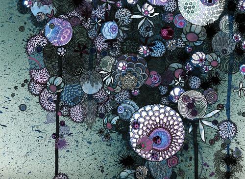 """Jill Gallenstein """"Her Violent Violet Eyes"""" (detail)"""