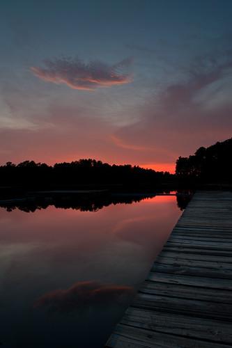 sunset dock nikon day cloudy boyscouts bsa d700 nikond700 campcoker