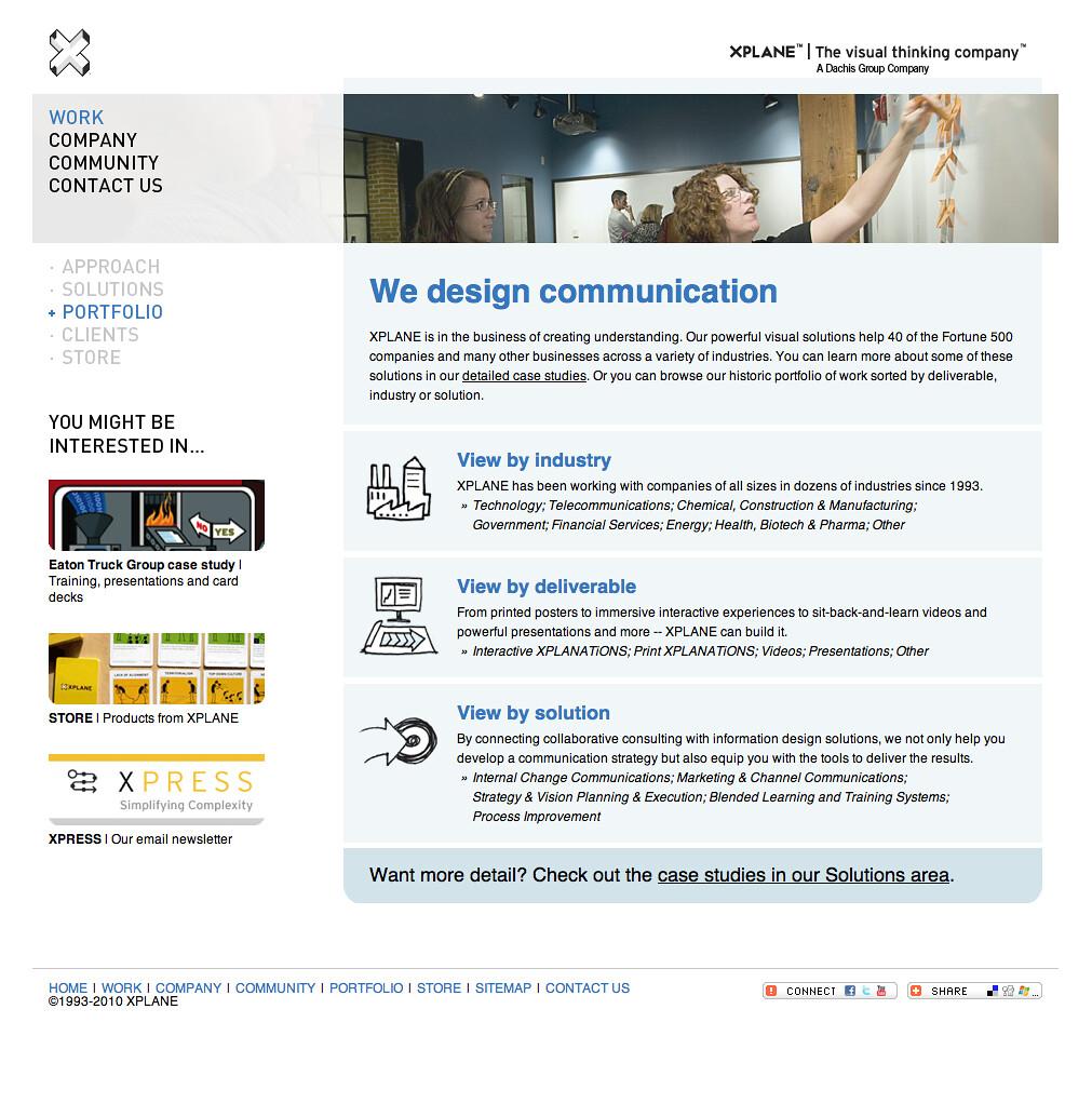 XPLANE com 2009-present (portfolio page)   Portfolio section…   Flickr