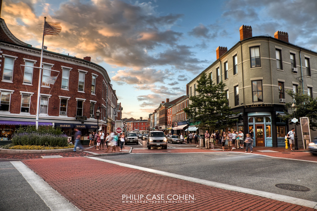 Friday Night in Market Square by Philip Case Cohen