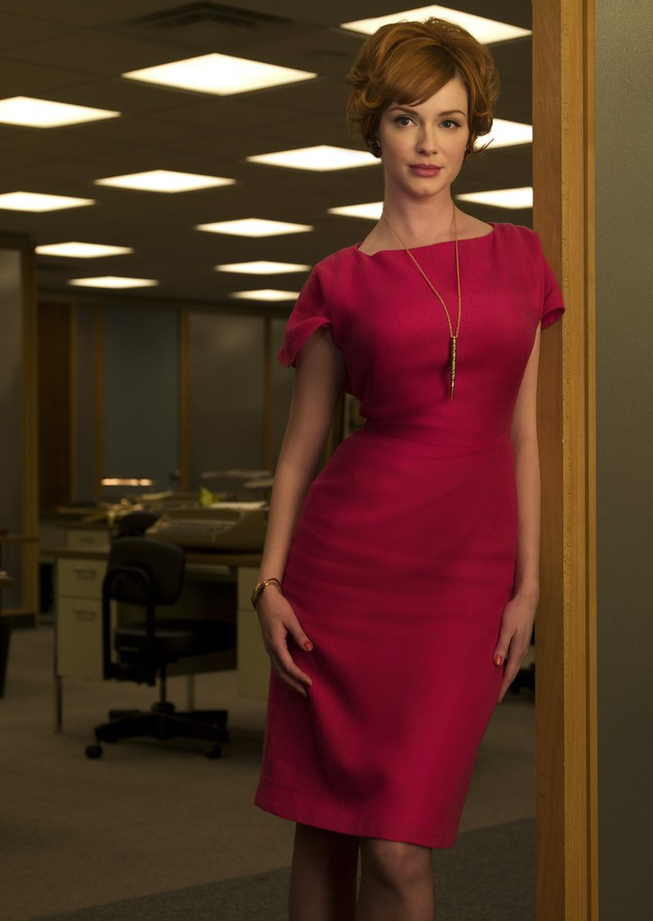 5dc832cbc ... Joan Holloway presenting herself in a red dress - Fashion of Mad Men |  by Deirdre