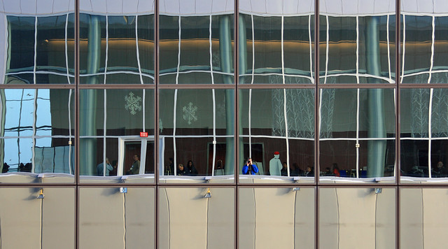 Reflection of the new Convention Center
