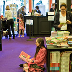 A wee sit-down in the bookshop |