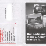 Addie Russell parks mailer (front and back)