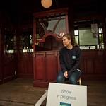 Show in progress | Outside the Highland Park Spiegeltent at the Edinburgh International Book Festival 2010