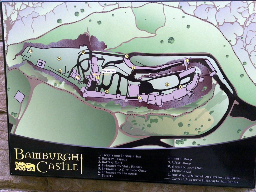 Bamburgh Castle Plan Map 29 07 2009 Bamburgh Castle Plan M Flickr