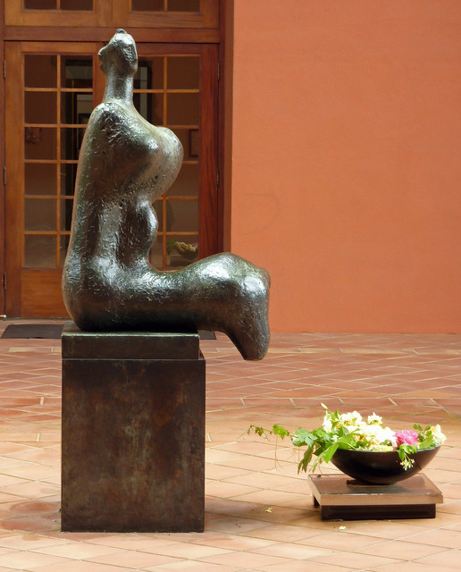 Henry Moore sculpture in the portico at Clos Pegase