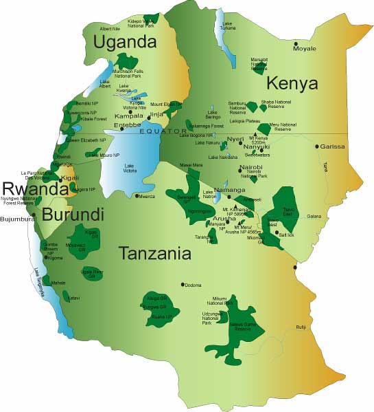 East African Community map | nukta77 | Flickr