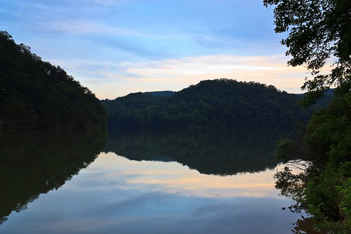 sunset mountains water virginia hungrymotherstatepark