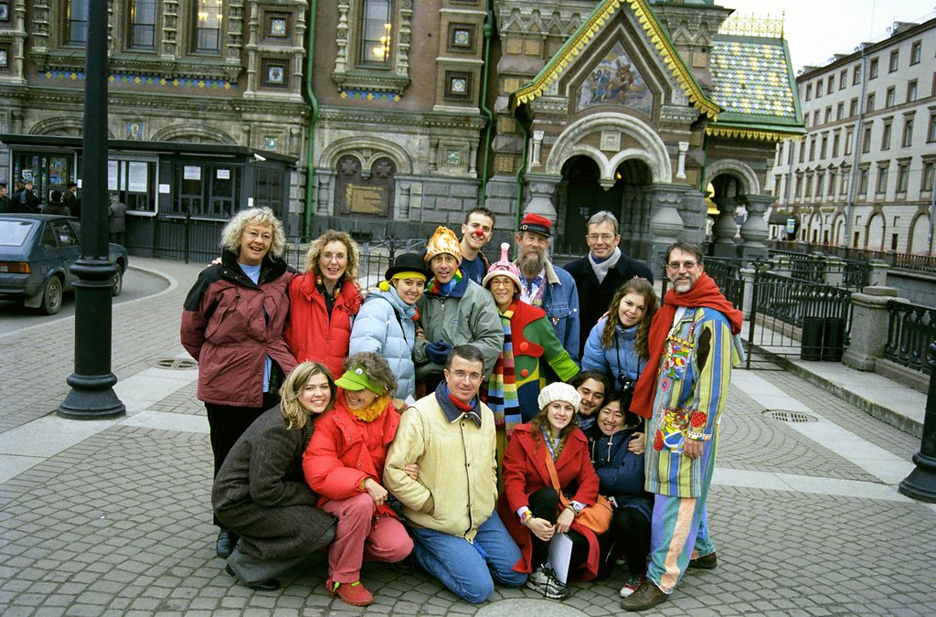 Group In St. Petersburg 1(John Glick/Russia Clown Trip 2004)