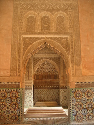 Arches at the Saadian tombs, Marrakech | by Mary Loosemore