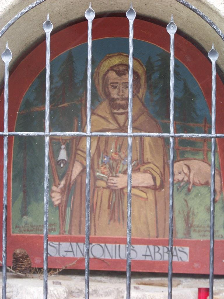 St. Prokulus Church | St. Antonius Abbas fresco. Naturno ...