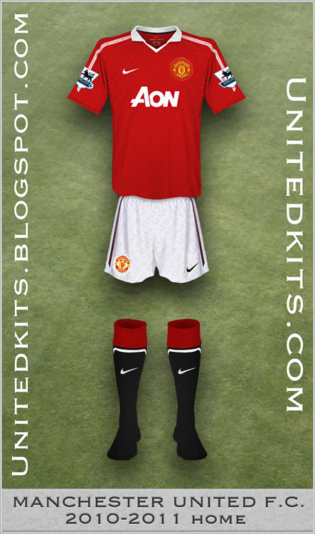 detailed look bef3f 8098a Manchester United 2010-11 Home kit | Tim | Flickr