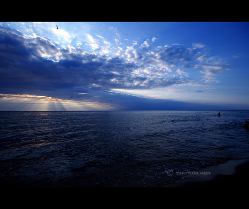 blue sunset summer sky lake nature water clouds michigan lakemichigan sunrays tone variation coloma thegalaxy