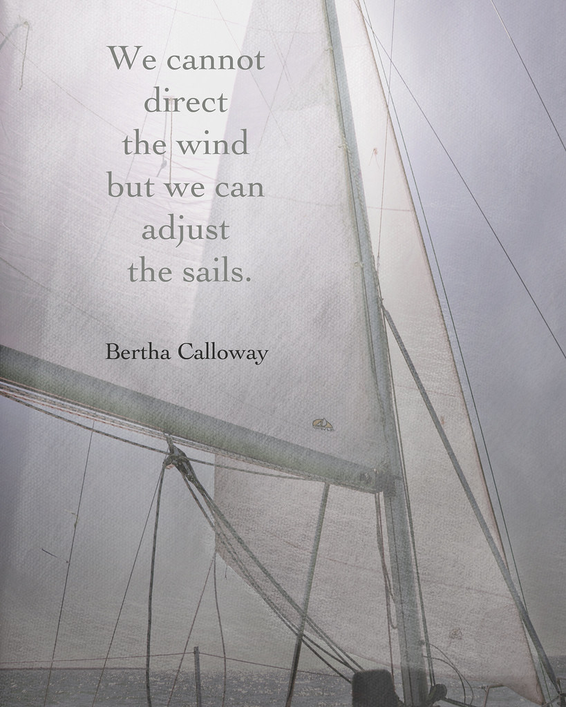 We cannot direct the wind but we can adjust the sails.~Ber… | Flickr