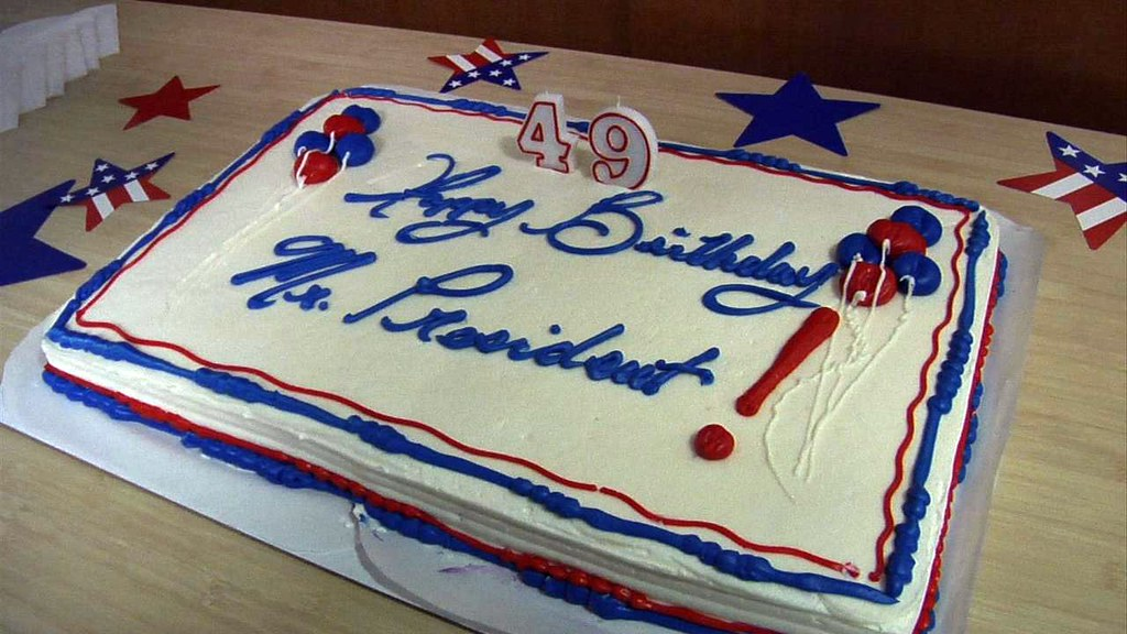 Groovy Birthday Cakes For The President August 4 2010 Organizing Flickr Funny Birthday Cards Online Inifodamsfinfo