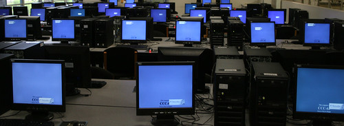 Blue screen of ... Envisionware.   by Jeffrey Beall