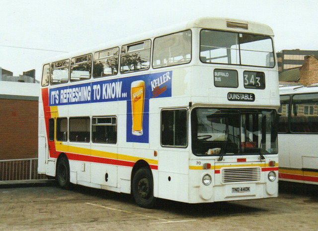 70, TND 440X, Dennis Dominator, Northern Counties Body H43-33F, (Buffalo Bus) (Ex-Greater Manchester) (t.1992)