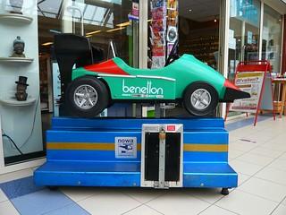 Kiddie Ride - Green Race Car Formula 1