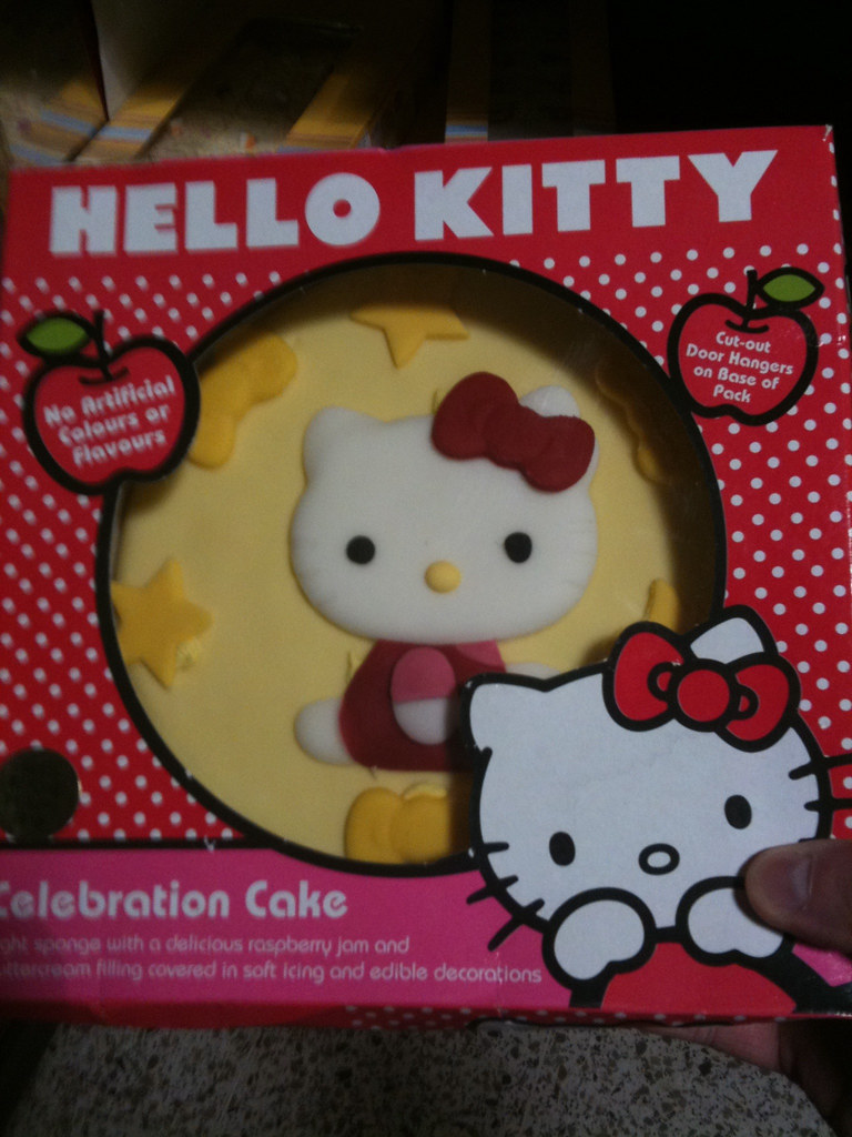 HELLO KITTY CAKE IN SAINSBURYS GED CARROLL FLICKR