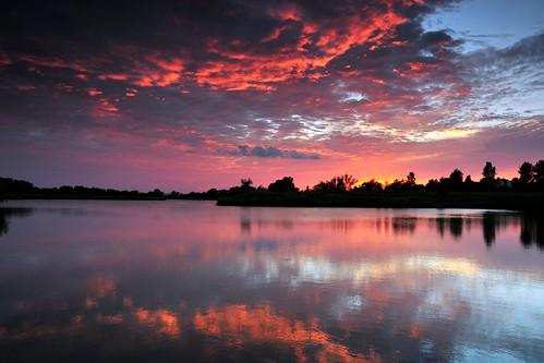 park sunset water creek reflections magenta kansas wichita chisholm chisholmcreekpark