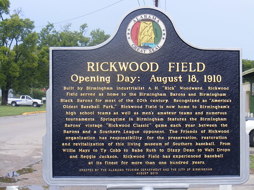 New state tourism sign for Rickwood Field | by acnatta