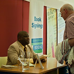 Gary Younge signing books |