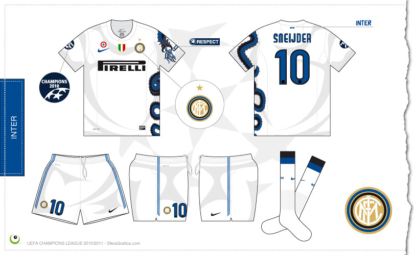 hot sale online 75408 b4bc8 Inter Champions League away kit 2010/2011 | Sergio Scala ...