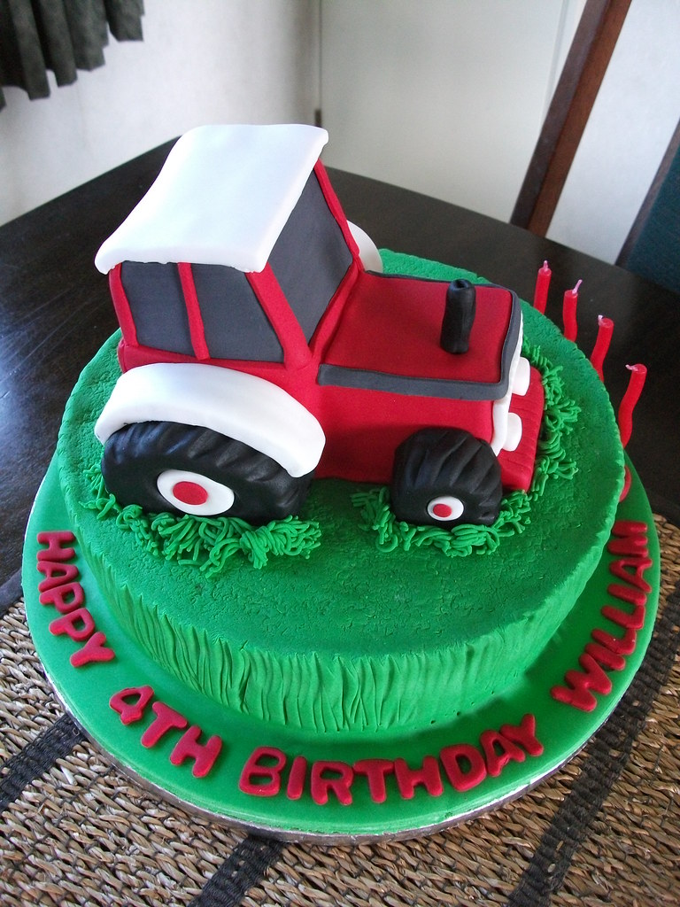 Enjoyable Tractor Birthday Cake William Loves Tractors Especially Flickr Funny Birthday Cards Online Fluifree Goldxyz