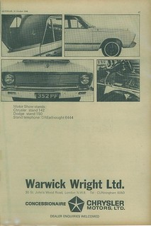 1966 Chrysler VC Valiant ad (UK) pg 2