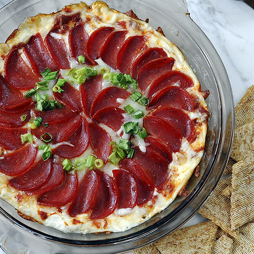 Pizza Dip_close-up square sm | by Salad in a Jar