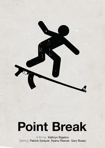 'Point Break' pictogram movie poster
