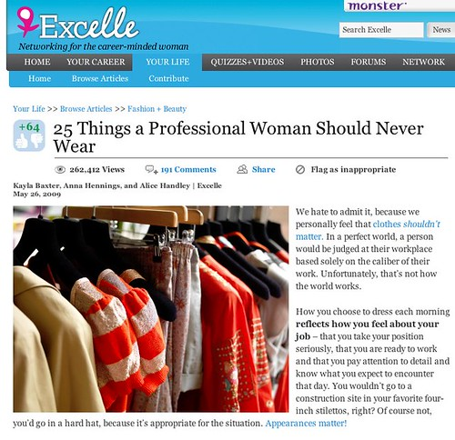 25 Things a Professional Woman Should Never Wear - Excelle | by TangerineKlarb