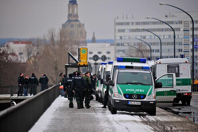 Gesichtskontrolle auf der Budapester Straße