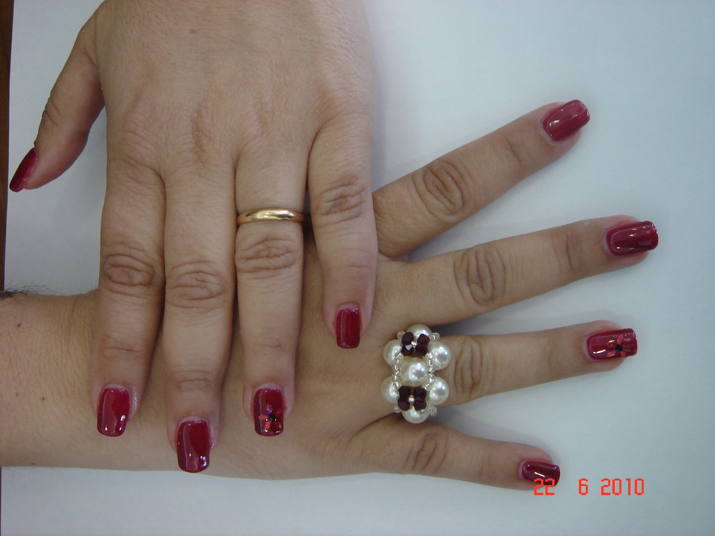 Uñas De Gel Rojas Dra Angela Flickr Photo Sharing