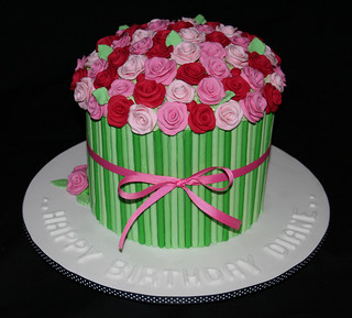 Roses Birthday Cake 1 | by Leonie's Creations