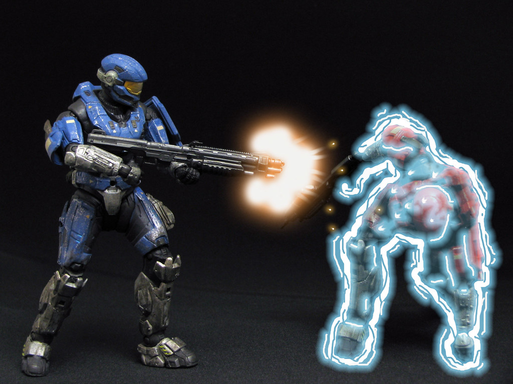 Halo Reach Red Vs Blue Spartan Hazop Soldiers Locked I Flickr