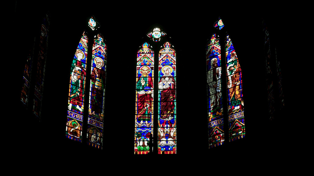 Stained glass in Bayonne cathedral