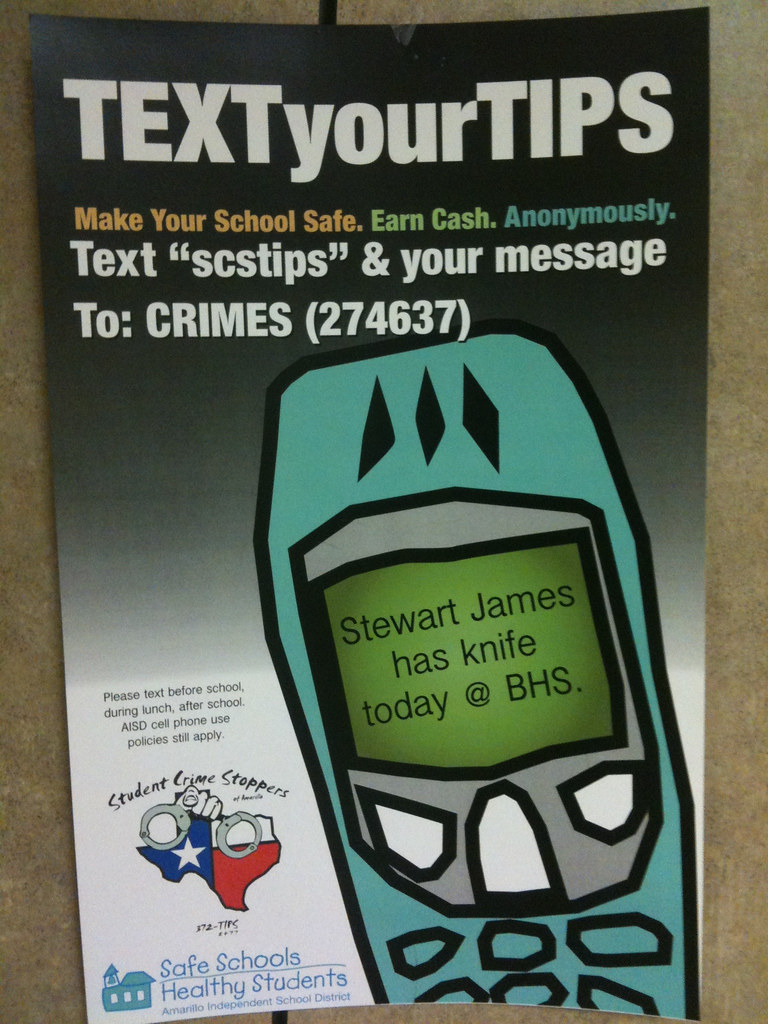 TEXTyourTIPS: Promoting Safe Schools with Anonymous text m