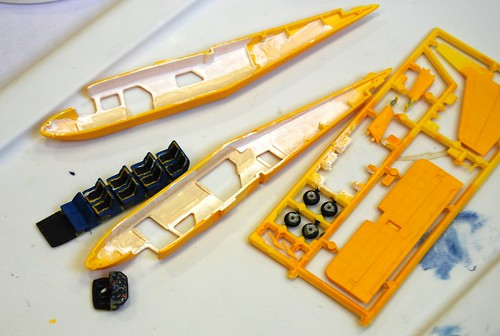 Airfix Britten-Norman BN-2a Islander interior nearly done. Finish paint, assemble the fuselage halves.