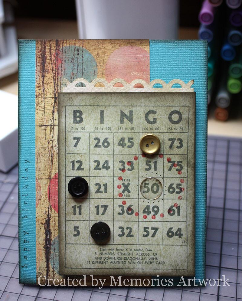 50th Bingo Birthday Card