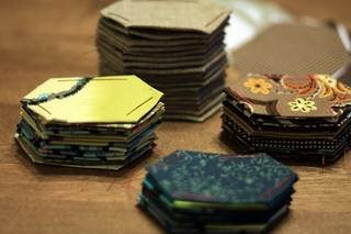 stacks of hexies   by artsy-crafty babe