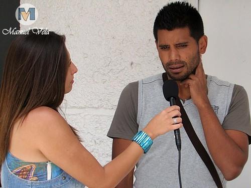 DSC00094 Karla Cabañas y Joaquin Velazquez al final del entrenamiento del Puebla FC por LAE Manuel Vela