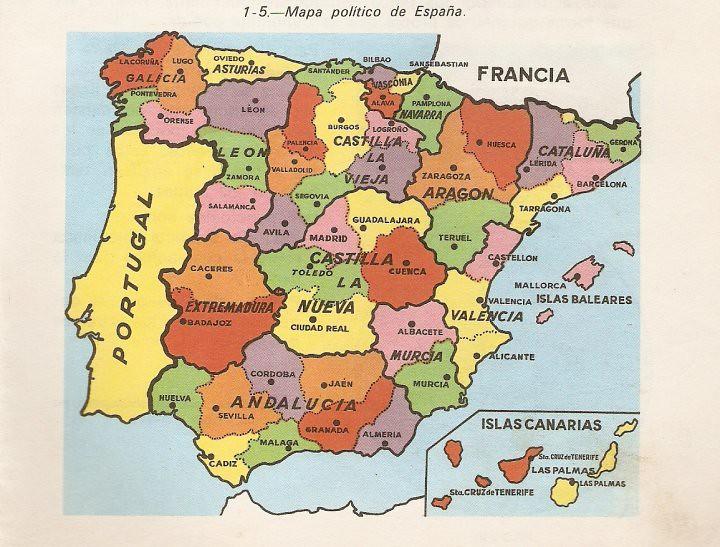1967 Mapa Politico Titulo Geografia De Espana Primer C Flickr
