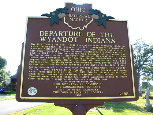Departure of the Wyandot Indians side 1