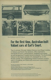 1966 Chrysler VC Valiant ad (UK) pg 1