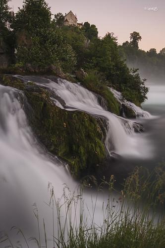 leniklas canon canoneos6d eos6d tamron tamron2875 rhinefalls waterfalls waserfälle water wasser river sunset switzerland schweiz švýcarsko schaffhausen laufen castle schloss