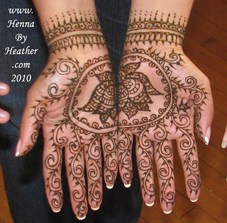 lotus_bridal_light_coverage_indian_wrist_bands_bracelets_design | by Henna by Heather - serving Boston and Providence