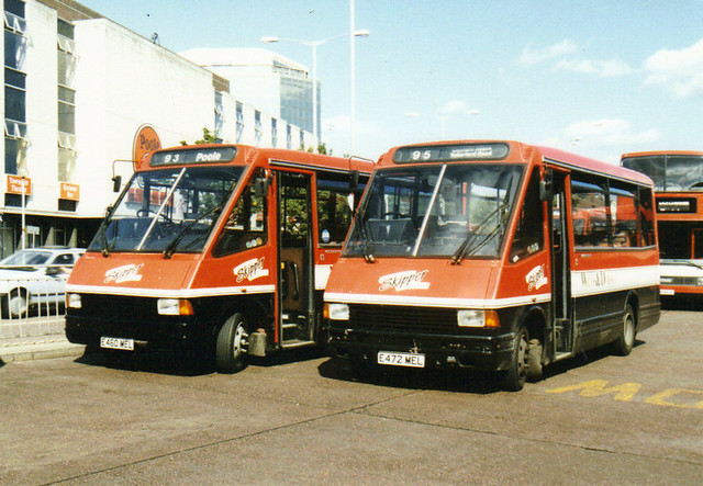 2309, E460 MEL & 2321, E472 MEL, MCW Metroriders, 1988 (Wilts & Dorset) (t.1993)