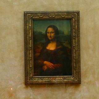 Red light camera pointer on Mona Lisa | by nicolasnova